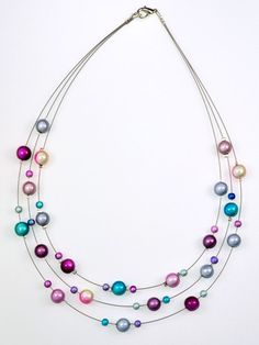3 Strand Miracle bead Necklace - Melanie Hand Design Jewellery