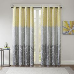 Not A Peep Curtains Yellow Stripe