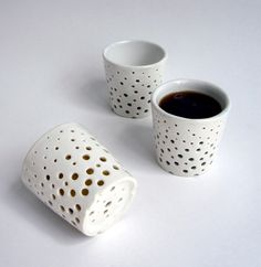 holey jolly cups by Makiko