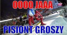 Zbiór memów o tematyce skoków narciarskich. Codzienne jeden nowy mem.… #losowo # Losowo # amreading # books # wattpad Very Funny Memes, Ski Jumping, Poland, Skiing, Minecraft, Haha, Sport, Ski, Hilarious Memes