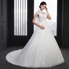 Sl-030 High Neck Beading Short Sleeve Ball Gown Lace Wedding Dress Photo, Detailed about Sl-030 High Neck Beading Short Sleeve Ball Gown Lace Wedding Dress Picture on Alibaba.com.