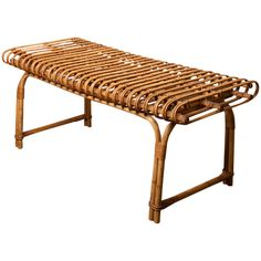 """French Rattan Bench, 1st dibs, $1,500 16""""t x 39""""w x 18""""d"""