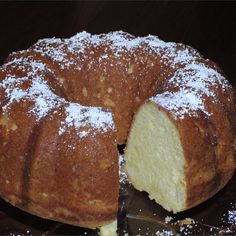 Grandma''s Sour Cream Pound Cake Recipe This is a moist pound cake that is baked in a Bundt pan. This is a recipe the whole family loves. It''s always a hit! Best Pound Cake Recipe, Pound Cake Recipes, Just Desserts, Delicious Desserts, Dessert Recipes, Bunt Cakes, Cupcake Cakes, Cupcakes, Sour Cream Pound Cake