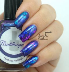 Abstract Nail Foil Design feat. Cadillacquer - Lucys Stash