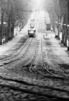 Prague Spring, Czech Republic, Railroad Tracks, Europe, Retro, Winter, Bohemia, Historia, Childhood