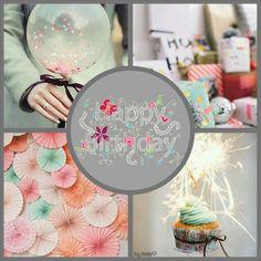 Happy Birthday. #moodboard #mosaic #collage #byJeetje♡