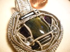 Wire Wrapped Labradorite Pendant by LostBoysRagz on Etsy, $36.00
