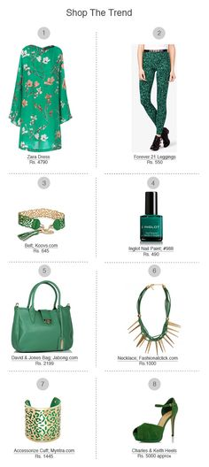 Emerald City: Finish your look with fun extras - A hint of green is a quick and easy way to add polish to your ensemble.