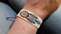 Chevron friendship bracelet with beads: Fiesta Beaded Wrap Bracelet 87 Long Seed Bead Stretch Friendship Bracelets With Beads, Tribal Bracelets, Bead Loom Bracelets, Beaded Wrap Bracelets, Handmade Bracelets, Beaded Earrings, Bracelet Set, Native Beading Patterns, Beaded Jewelry Patterns