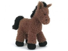 Caffuffle cuddly pony from Jellycat.  With a gorgeous treacle mane, long soft legs and squashy black hooves this cuddly pony is a firm favourite with horse and pony lovers of any age.
