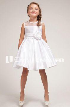 Flower girl dress :) White Satin Dress w/Organza Trim Bodice White Satin Dress, Girls White Dress, White Flower Girl Dresses, Lace Flower Girls, Black Wedding Dresses, Little Girl Dresses, Satin Dresses, White Silk, Silk Satin