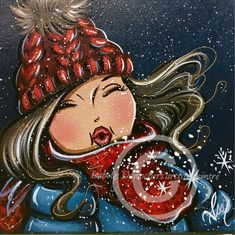 Les joies de février 8X8 Isabelle Desrochers Winter Painting, Winter Art, Cartoon Drawings, Cool Drawings, Plus Size Art, Isabelle, Black Women Art, Woman Painting, Pictures To Draw