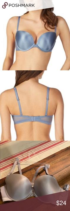 Le Mystere Women/'s Bra NWT Safari Full Figure Lace Trimmed Plunge Whisper Blue