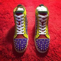 Christian Louboutin sneakers Yellow& Red& Blue