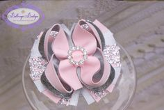 Easter hair bow spring hair bow light by buttercupsbows on Etsy, $10.99