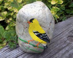 Tucano arredamento ~ Tucano toco uccello tropicale sasso dipinto pietra soprammobile