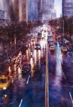 Rainy cityscape by Ching-Che Lin