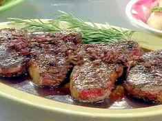 Strip Steak with Rosemary Red Wine Sauce