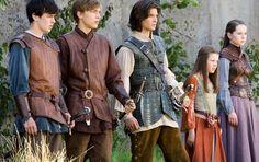 Edmund, Peter, Caspian, Lucy, and Susan