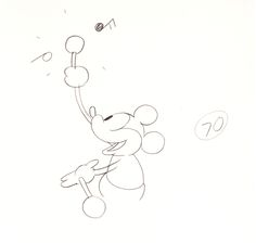 """Ub Iwerks animation drawings–and a """"limited edition"""" animation cel–from the 1928 Disney short, Steamboat Willie.  I'm sure you know its history: it's considered to be the debut of a little fellow called Mickey Mouse, and also the first cartoon with a properly synchronized soundtrack."""