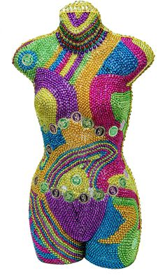 What to do with all those leftover beads? Check out our decorated manequin!  Created by Jennifer Stewart @Toomey's Mardi Gras & Party Supplies http://www.toomeys-mardigras.com/