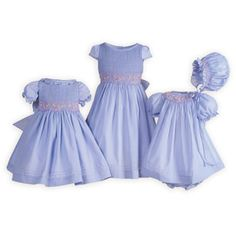 Lilac Delight Hand-Smocked Sister Dresses