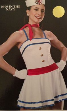 In The Navy 409 Patriotic Pageant Wear July 4th Tap Competiton Dance Costume. RWB wear?