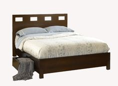Modus Furniture RV26D5 Riva Platform Storage Bed Queen Chocolate Brown >>> Check out the image by visiting the link.