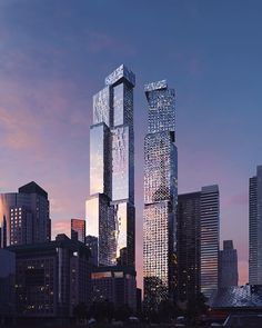 frank gehry refines design for toronto's king street west project Toronto Images, Frank Gehry, The Two Towers, Glass Facades, Downtown Toronto, Famous Architects, Willis Tower, Building Design, Skyscraper