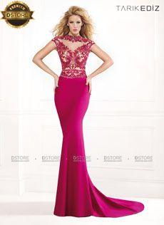 Vestido de festa longo sereia em crepe Tarik Ediz ANITA 92332 : Dstore, As Melhores Grifes dos EUA - Site Oficial