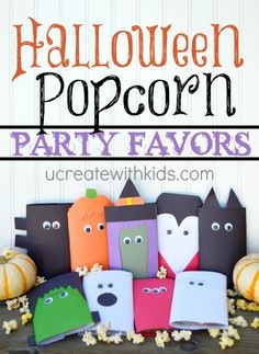 Halloween Popcorn Party Favors at ucreatewithkids.com