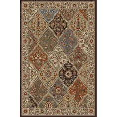Elegance Red Ivory And Gray Rectangular: 7 Ft. 6 In. X 9 Ft. 10 In. Rug Tayse Rugs Machine
