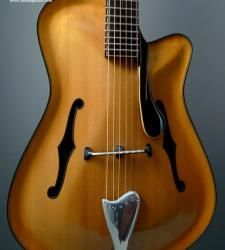 This is an amazing sounding SS Jazz Archtop from renowned Israeli builder Elkayam Boaz. The design is completely original and and employs parallel braces making this one of the most responsive archtops you've ever play Guitar Pics, Jazz Guitar, Cool Guitar, Unique Guitars, Custom Guitars, Archtop Guitar, Acoustic Guitars, Bass Guitars, Guitar Crafts