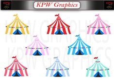 Circus Carnival Big Top Tent Set 1 in PNG format. Personal & Small Commercial use