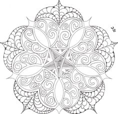 Geometric flower coloring pages geometric flower mandala adult coloring col Flower Coloring Pages, Mandala Coloring Pages, Coloring Book Pages, Printable Coloring Pages, Coloring Sheets, Mandalas Painting, Mandalas Drawing, Geometric Flower, Flower Mandala
