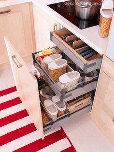 fonksiyonlu mutfak dolabı çekmecesi