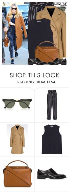 """""""Celebrity Style: Margot Robbie"""" by nastyaafanasova ❤ liked on Polyvore featuring ASOS, Ray-Ban, TradeMark, Emporio Armani, Fendi and Robert Clergerie"""