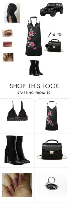 """Friday night👠"" by sabellacunningham ❤ liked on Polyvore featuring Humble Chic, WithChic, Kylie Cosmetics, Helen Moore and GURU"