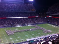 Now forming at the North End of Kyle Field, the nationally famous Fightin' Texas Aggie Band