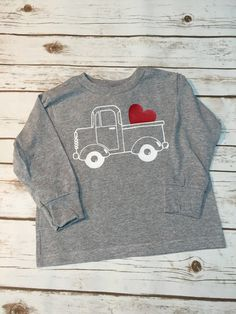 Boy Infant Toddler Youth Long Sleeve Tshirt by BowBowsCreations Toddler Valentine Shirts, Valentine Gifts For Kids, Valentines Day Shirts, Diy Valentine's Shirts, Vinyl Shirts, Diy Shirt, Sewing Projects For Kids, Sewing For Kids, Cricut Creations