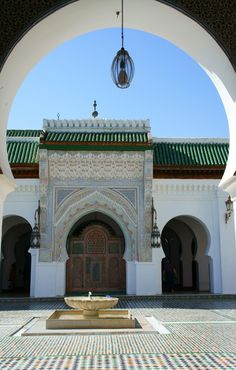 Fes, Fes, Morocco - The University of Al-Karaouine, the oldest in...
