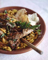 Lamb Chops and Ragu with Malloreddue(use cavatelli or,gnochetti)