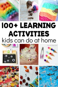 Over 100 simple and engaging learning activities for preschoolers at home! Love that it comes with a free printable filled with ideas. Preschool Art Activities, Indoor Activities For Kids, Free Preschool, Alphabet Activities, Creative Activities, Toddler Preschool, Toddler Activities, Preschool Activities, Preschool Printables