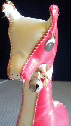 Vintage Vinyl Giraffe Stuffed Toy