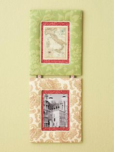 fabric covered picture frames