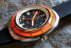 Cyma rare orange diver!