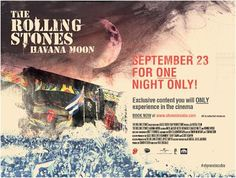 El concierto de los Stones en Cuba será publicado de forma oficial, con estreno previo en cines.