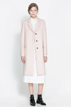 Masculine studio overcoat #Zara