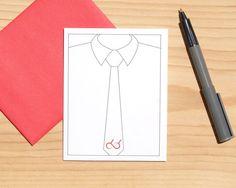 Gay Card  Necktie Card  Father's Day Card  Gay Pride  by Sabastica