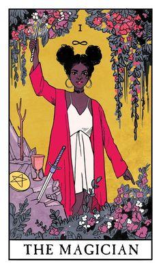 The Magician - Modern Witch Tarot, an art print by Lisa Sterle - INPRNT Doreen Virtue, Tarot Card Decks, Tarot Cards, Celtic Cross Tarot, Arte Copic, Le Bateleur, Tarot Card Spreads, Rider Waite Tarot, Tarot Card Meanings